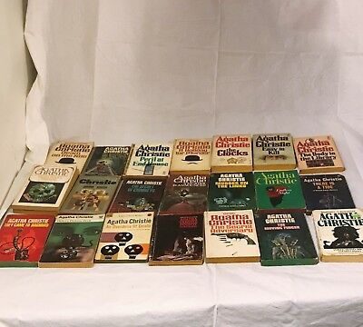 Lot of 52 Agatha Christie Mystery Novels Herclue Poirot + Orient Express + More