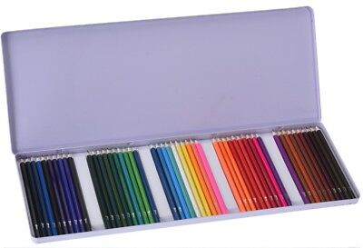 Artista Set of 50 Colouring Pencils in Metal Case 50 Piece Coloured Pencils