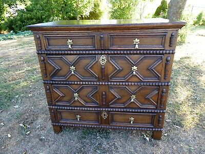 Country Oak Four Drawer  Chest Of Drawers 1740 Free Shipping To England