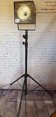 Vintage Retro Optikinetics Super Slave Strobe Light Tripod Display Disco Party