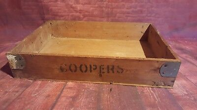 Vintage Wooden Coopers Crate Trug Box Storage Planter Display Prop Up Cycle
