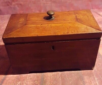Antique Victorian Edwardian Georgian Wooden Tea Caddy Caddie Display Box Storage