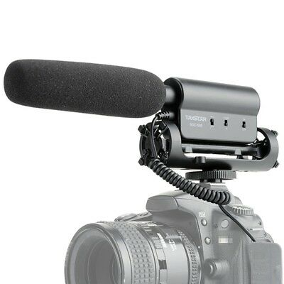 TAKSTAR SGC-598 Interview MC Microphone Recording for Canon Nikon DSLR Cameras