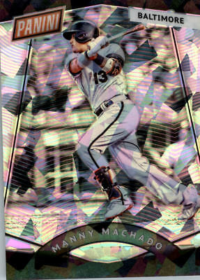 2017 Panini National Convention Vip Prizm Cracked Ice #70 Manny Machado Bb /25
