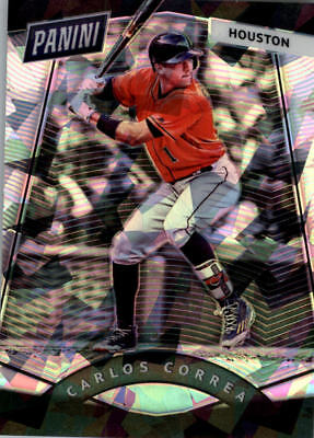 2017 Panini National Convention Vip Prizm Cracked Ice #60 Carlos Correa Bb /25