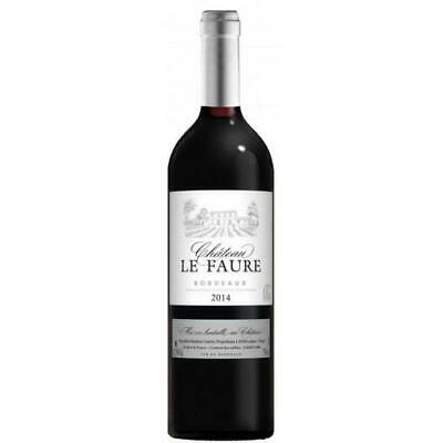 RRP $378 Chateau Le Faure AOC Bordeaux Rouge Red Wine 2014 (12 x750ml) Free Ship