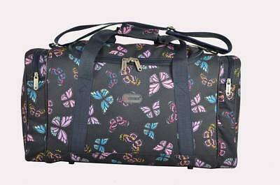 Navy butterfly travel/weekend/overnight/gym/hospital bag/holdall/duffle/bag
