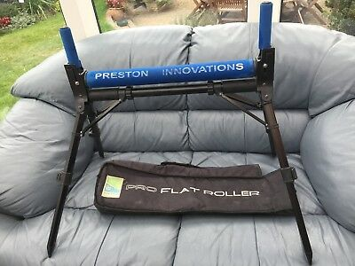 Preston Innovations 'PRO FLAT ROLLER' Pole Roller & Case - Good Used Condition