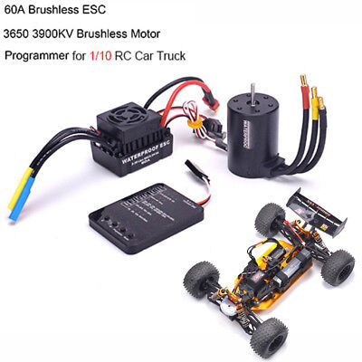 3650 3900KV Brushless Motor Programming card Parts Tools For 1/10 RC Car