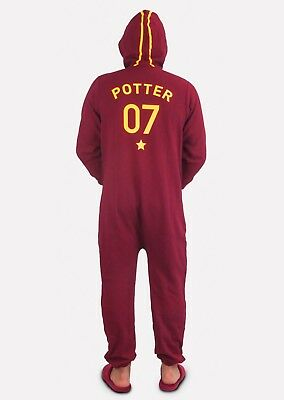 Harry Potter Adult Mens Dressing Gown Jumpsuit All in One Piece PJs Pyjamas