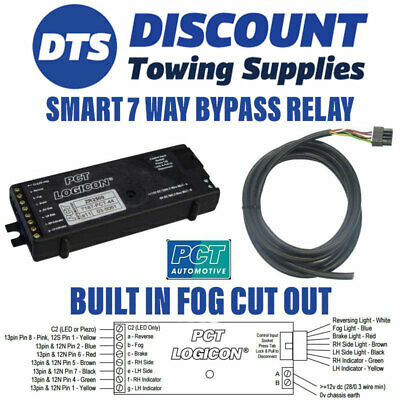 Ford 7 Way Bypass Relay PCT ZR2500 Towing Interface Inc Fog Cut Out