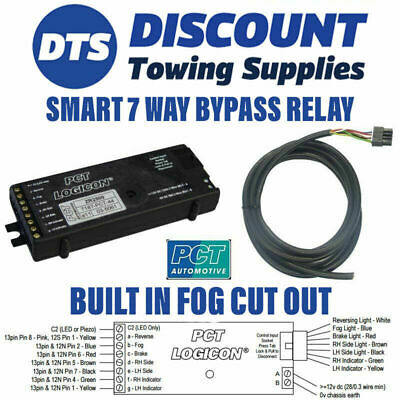 Universal 7 Way Bypass Relay PCT ZR2500 Towing Interface Inc Fog Cut Out