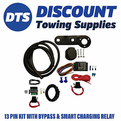 Opel 13 Pin Electric Towbar Wiring Kit Inc Bypass and Charging Relays