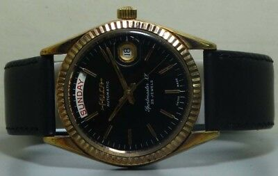 Vintage Felca Automatic Day Date Swiss Made Wrist Watch r671 Used Antique