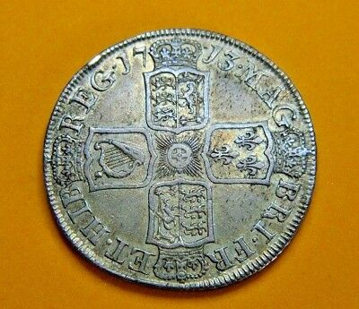 1713 Queen Anne Silver Halfcrown, Dvodecimo Edge ,very High Grade.