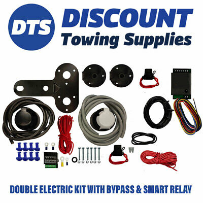 Jaguar S-Type 12N 12S Twin Electric Towbar Wiring Kit Charging & Bypass Relay