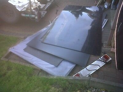 6x Black plastic PP  8x4ft sheets