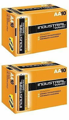 20x Duracell AA Industrial Alkaline Batteries 1.5V LR6 MN1500 Procell 2026exp.