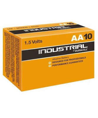 10x Duracell AA Industrial Alkaline Batteries 1.5V LR6 MN1500 Procell 2026exp.