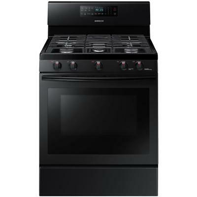 Samsung 5-Burner Self-cleaning Convection Gas Range (Black) # NX58M5600SB