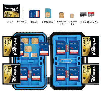 Memory Card Protective Case Waterproof Anti-shock Storge Bag For SD SDHC SDXC TF