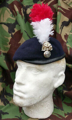 Royal Regiment of Fusiliers Beret Small Crown Cap Badge & Hackle New 56-62