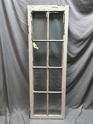 Antique 8 Lite Casement Door Window Cabinet Shabby Vtg Old 20x62   40-18C