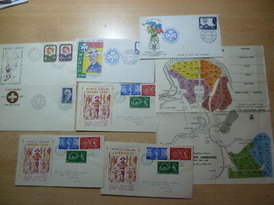 S180/7229 PFADFINDER SCOUTS Lot FDC/Belege