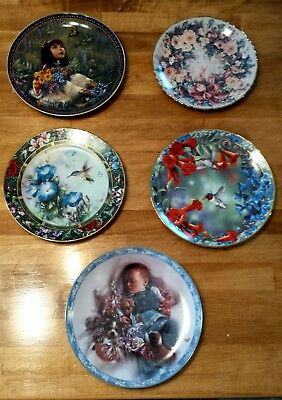 Lot of 5 Collector Plates Bradford Exchange Decorative Plates
