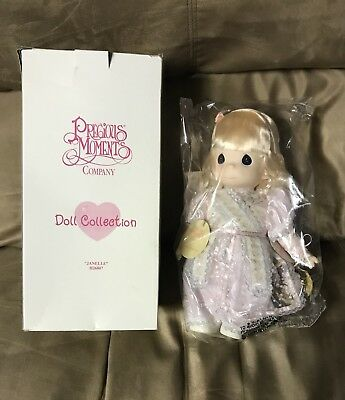 """Janelle 1997 Precious Moments PRETTY AS A PRINCESS 12"""" Doll QVC 1st Edition NEW"""