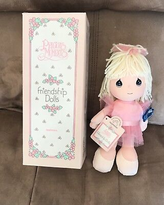 Precious Moments Friendship Dolls Marcie, 1993, Ballerina NEW In Box By Applause