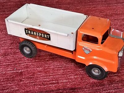 Vintage Triang Red & white pick up truck original condition