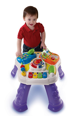 VTech Purple Baby Play and Learn Activity Musical Table  Multi-Coloured Toy Gift