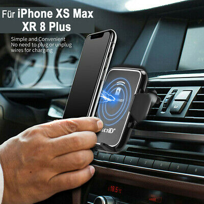 Qi Wireless Charger Car Mount Holder For Samsung Galaxy S9/S8+ iPhone XS Max XR
