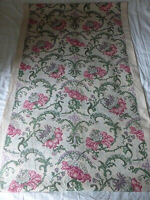 Antique Arts and Crafts printed linen fabric   5.4m