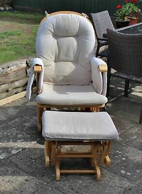 Rocking Glider Nursing Chair with Footstool