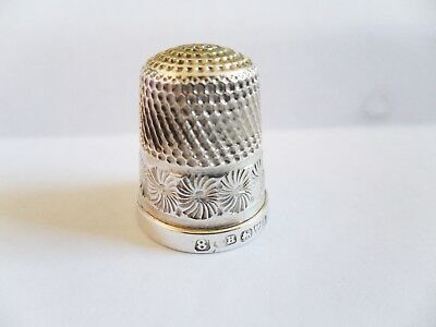 Charles Horner Chester 1922 Solid Silver 925 Thimble  (Lot t8)