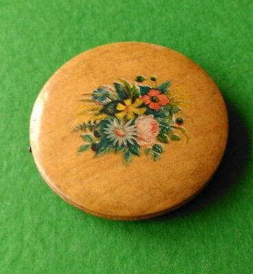 Mauchline Floral Ware Pin Wheel. Prints of Sprays of Flowers.