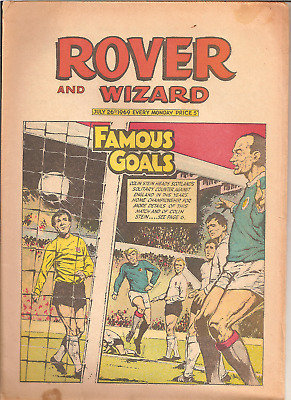 ROVER AND WIZARD,JULY 26th,1969:SCHOOL TEAM COLOURS BACK PAGE,BRADDOCK,BIG MICK