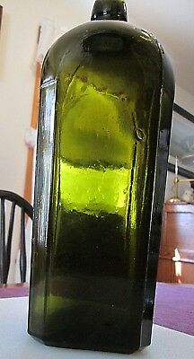 Beautiful Large Case Gin Bottle in a clear Olive Green color!!