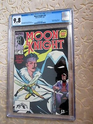 Moon Knight #35 CGC 9.8  Fantastic Four X-Men Human Fly app Double size issue