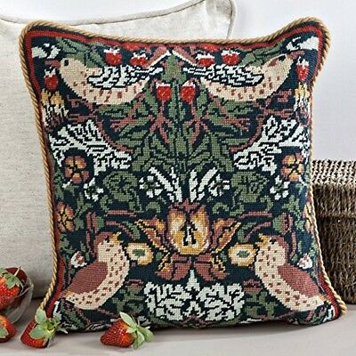 Cushion tapestry kit 'Strawberry Thief' by Twilleys of Stamford. New