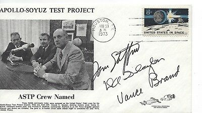 Autographed by Tom Stafford, Don Slayton and Vance Brand astronauts