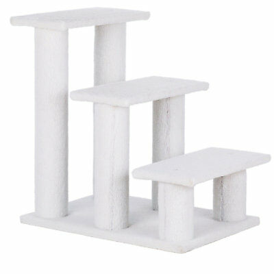 """Trixie Pet Stairs With Plush Cover In White, 25.5"""" H"""