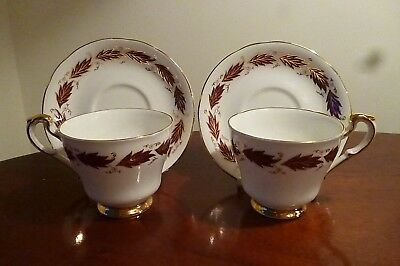 Pair of Superb Quality Paragon Elegance Cups & Saucers in pristine condition