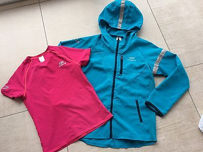 Jogging-/Lauf-/Trainings-Jacke; Gr. 128 + 2x Shirt, w. NEU