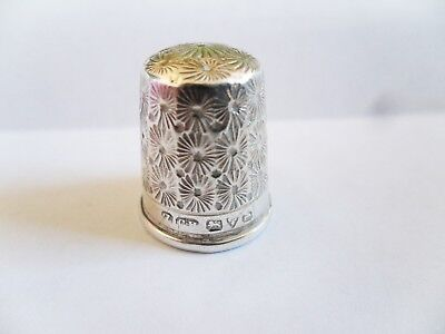 Charles Horner Chester 1921 Solid Silver 925 Thimble  (Lot t7)