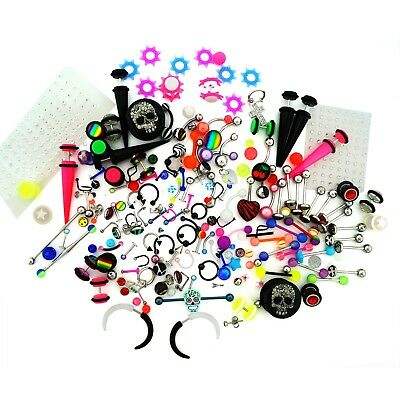 50 Value Packs of Body Piercing Jewelry - Mixed Assortment
