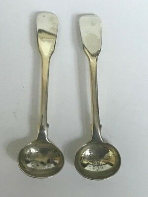 2 ANTIQUE 18th CENTURY GEORGE III ENGLISH STERLING SILVER SAUCE LADLE