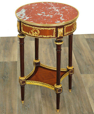 LOUIS XVI-Stil MAHAGONI TISCH ca.80x52cm - FRENCH SALON TABLE - EBENISTENMÖBEL